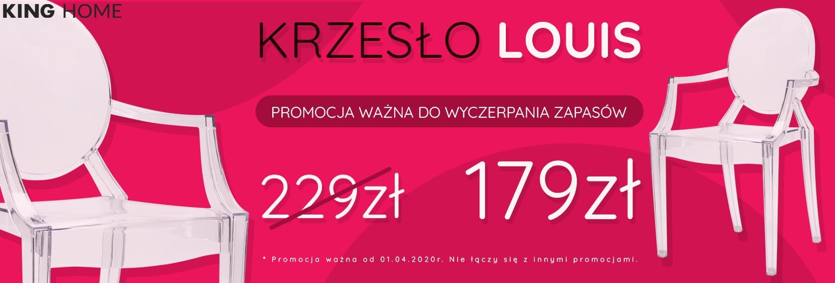 Krzesło LOUIS transparentne 179 zł
